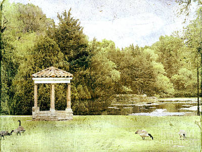 The Gazebo  Art Print by Ann Powell