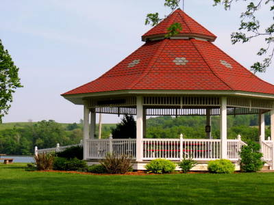 Photograph - The Gazebo On The Lake by Kay Novy