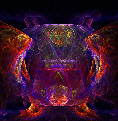 Digital Art - The Gazing Glass by Ann Peck