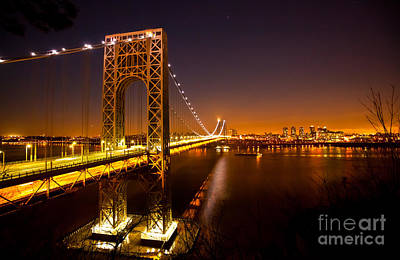 Photograph - The George Washington Bridge At Night by Mark East
