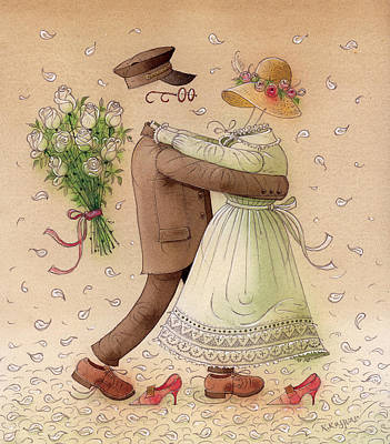 The Ghost Dance Art Print by Kestutis Kasparavicius