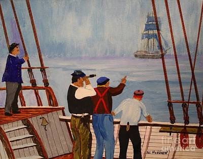 Painting - The Ghost Ship Mary Celeste by Bill Hubbard