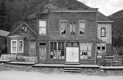 Photograph - The Ghost Town Of Saint Elmo Black And White by Ken Smith