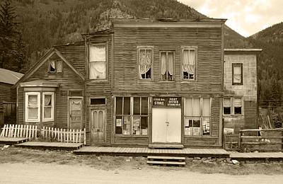 Photograph - The Ghost Town Of Saint Elmo Sepia by Ken Smith