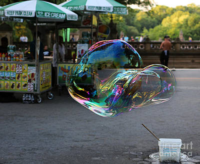 Photograph - The Giant Bubble At Bethesda Terrace by Lee Dos Santos