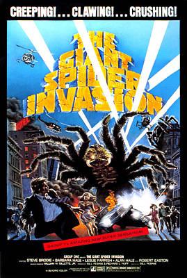 Postv Photograph - The Giant Spider Invasion, Poster Art by Everett