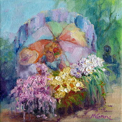 Floral Painting - The Gift by Marie Green
