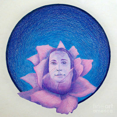 Yogananda Drawing - The Gift Of The Guru by Brian  Commerford