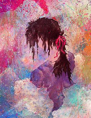 The Girl Of Many Colors Art Print by Rachel Christine Nowicki