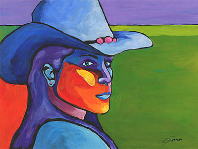 Painting - The Glance by Dennis Jones