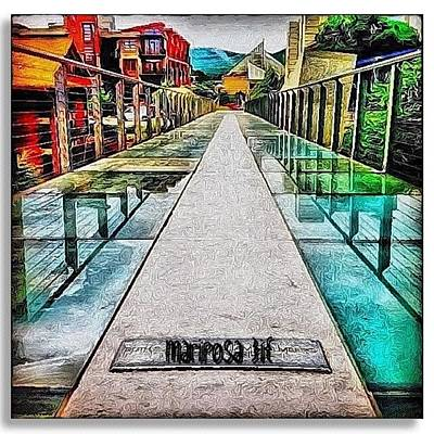 Edit Photograph - The Glass Bridge by Mari Posa