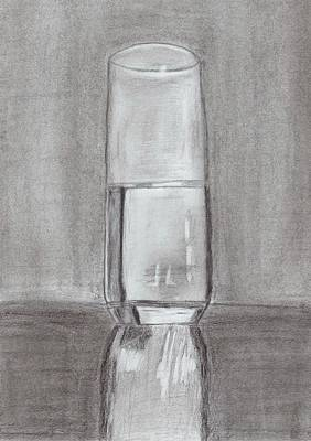 Pessimist Drawing - The Glass by Carmela De Rosa