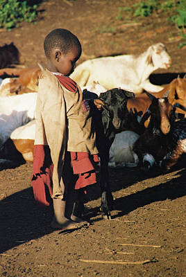 Photograph - The Goat Girl by Paula St James