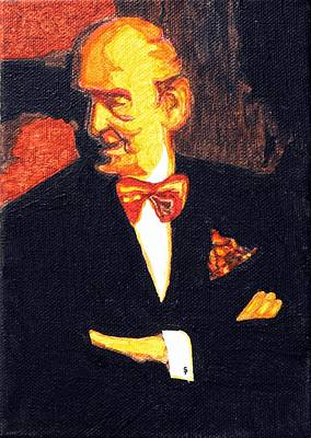 Ear Cuff Painting - The Godfather Vladimir Horowitz Revisited by Sheri Buchheit