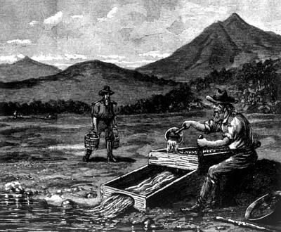 The Gold Rush, Prospector Using Art Print by Everett