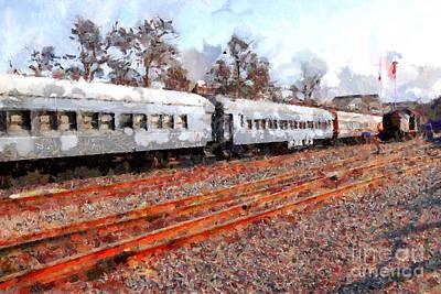 The Golden Age Of Railroads . 7d115623 Art Print