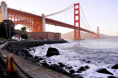 Photograph - The Golden Gate Bridge by Leori Gill
