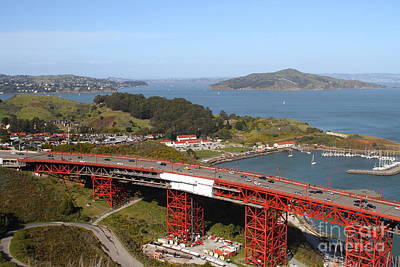 Baker Island Photograph - The Golden Gate Bridge North Side Overlooking Angel Island And Tiburon And Horseshoe Bay . 7d14494 by Wingsdomain Art and Photography