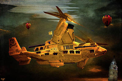 Photograph - The Golden Osprey A Steam Powered Flying Gunship by Chris Lord