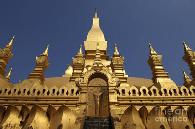 Photograph - The Golden Palace Laos by Bob Christopher