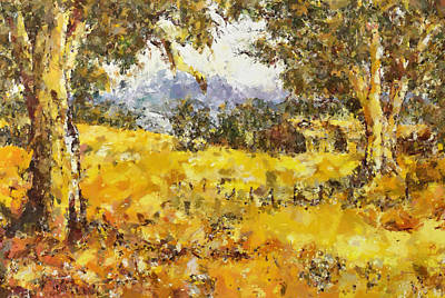 Painting - The Golden Valley by Georgiana Romanovna