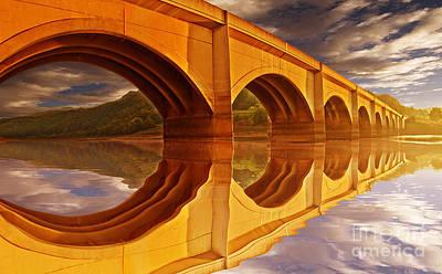 The Golden Viaduct Art Print by Nigel Hatton