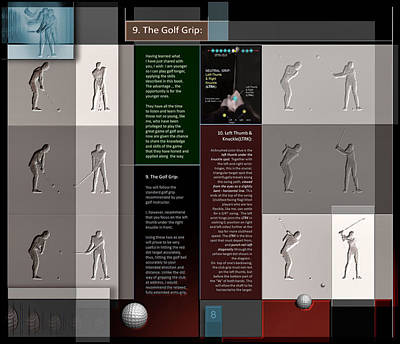 Digital Art - The Golf Grip P8 by Glenn Bautista