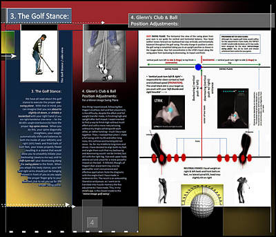 Digital Art - The Golf Stance By Glenn P4 by Glenn Bautista