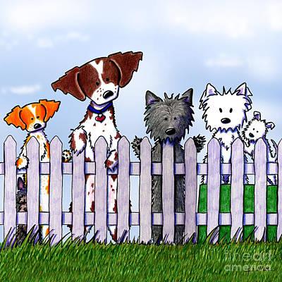 The Gossip Gang Art Print by Kim Niles