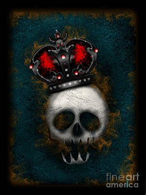 Digital Art - The Gothic King by J Kinion