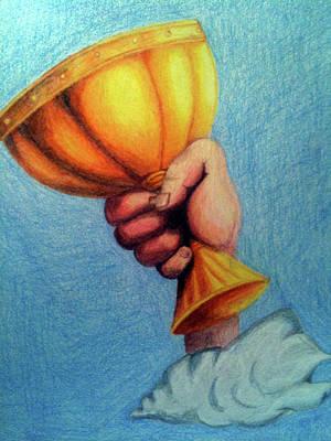 Python Drawing - The Grail - Inspired By Monty Python by Sara Davis