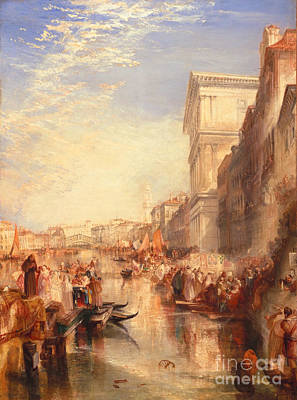 Clergy Painting - The Grand Canal Scene - A Street In Venice by Joseph Mallord William Turner