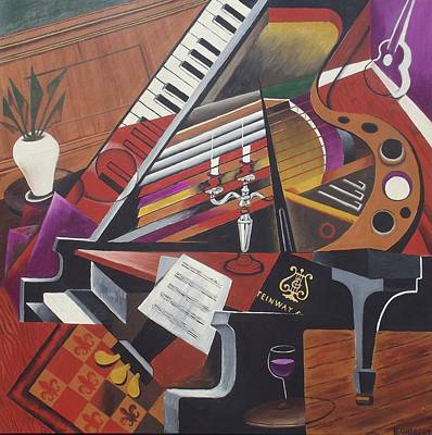 Painting - The Grand Piano by Bob Gregory