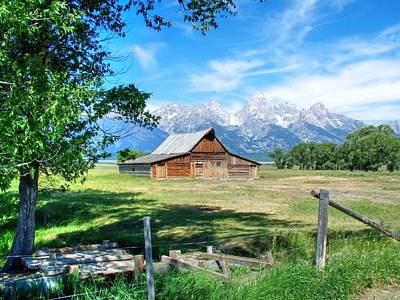 Photograph - The Grand Tetons And The Morman Barn by Ken Smith