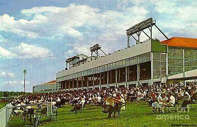 Painting - The Grandstand And Clubhouse At Rockingham Park In Salem N H by Dwight Goss