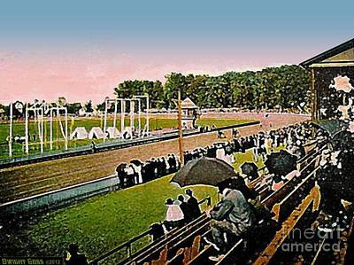 Painting - The Great Allentown Fair Racetrack Around 1910 by Dwight Goss