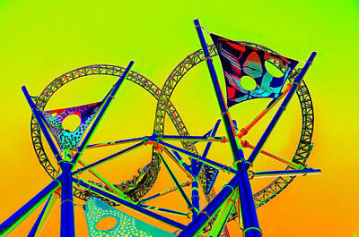 Roller Coaster Painting - The Great Amusement Park Ride by David Lee Thompson
