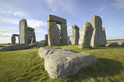 Megalith Photograph - The Great And Ancient Stone Circle Of Stonehenge, One Of The Wonders Of The World, In Wiltshire, England by VisitBritain/Martin Brent