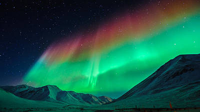 Dalton Highway Photograph - The Great Barrier Of Aurora by Noppawat Tom Charoensinphon