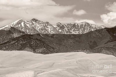 Photograph - The Great Colorado Sand Dunes Sepia by James BO  Insogna