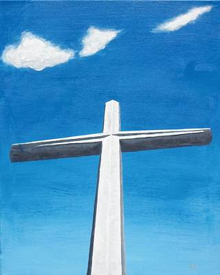 Of St. Augustine Painting - The Great Cross - Risen by Kelvin Kelley
