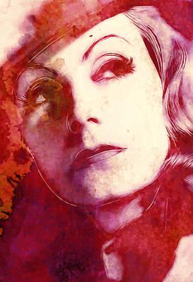 Greta Garbo Painting - The Great Garbo by Steve K