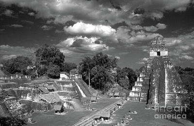 Photograph - The Great Plaza Tikal Gautemala by John  Mitchell