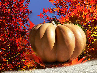 Great Mixed Media - The Great Pumpkin And October Colors by Heinz G Mielke