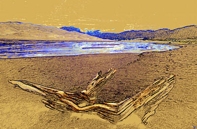 Sand Dunes Painting - The Great Sand Dunes by David Lee Thompson