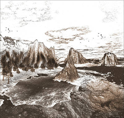 Great Mixed Media - The Great Southwest In Black And White by Heinz G Mielke