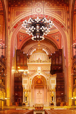Photograph - The Great Synagogue-budapest by John Galbo