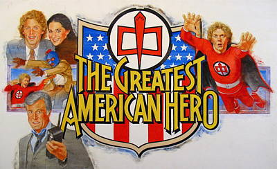 Painting - The Greatest American Hero by Cliff Spohn