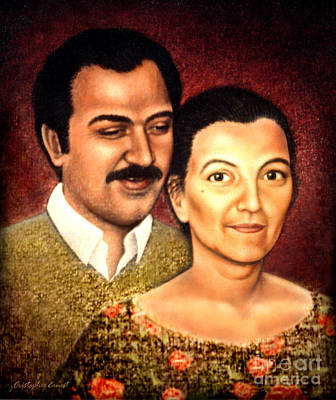 Painting - The Greek Couple by Cristophers Dream Artistry