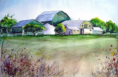 Painting - The Green Barn by Ronald Tseng